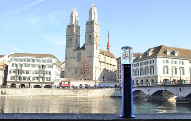 HOME 11L Cooler in Zürich near the Limmat river