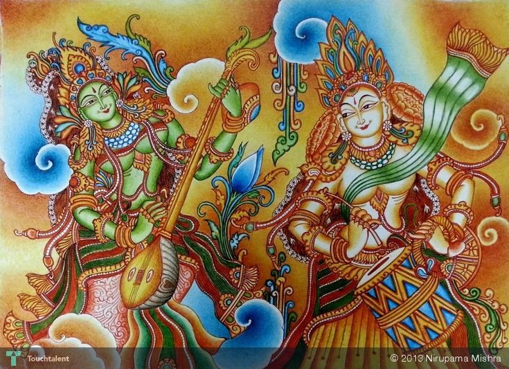 853 best kerala mural art images on pinterest for Asha mural painting