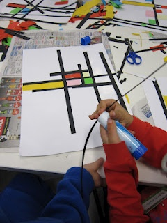 """De Stijl...Activity goes with """"The Style"""" movement of which Mondrian was a part."""
