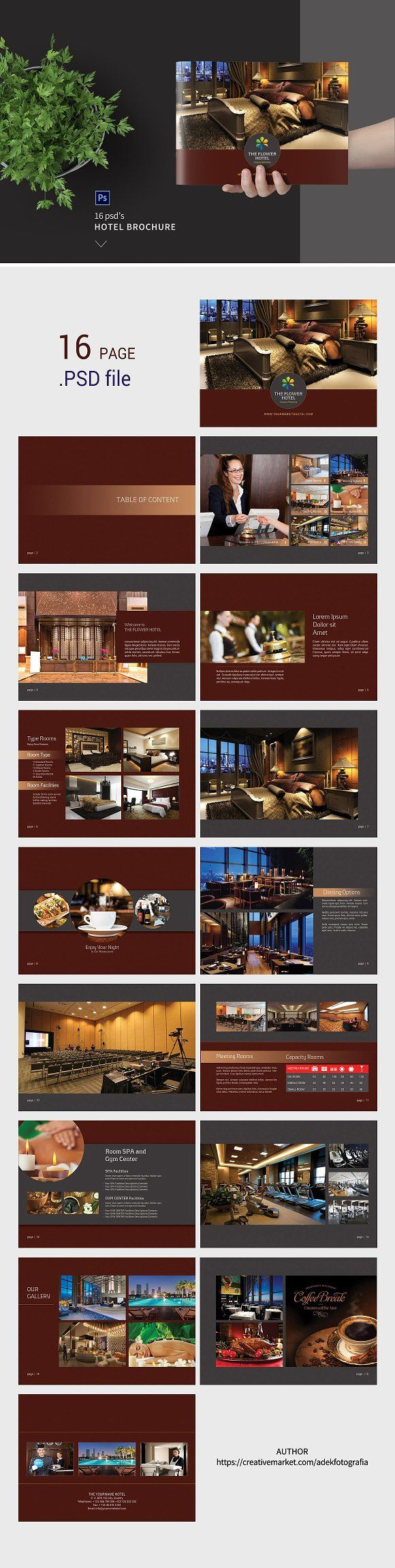 Hotel Brochure by adekfotografia on @creativemarket
