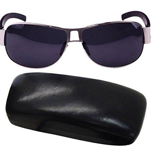 TANGDA Herren Kunststoff Sport Sonnenbrille UV400 Radfahren Jogging Sonnenbrillen Brillenetui Brillenbeutel Herrenbrillen - Roter Rahmen 2VX8l