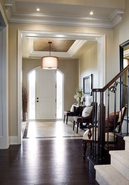"Benjamin Moore Color...""bennington gray."" A gray-beige that is truly neutral and will blossom in natural light:)"