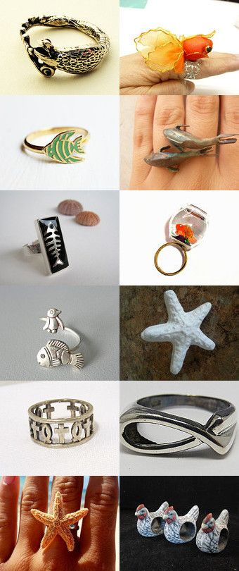 Fish Ring Index by Jenny Roust on Etsy--Pinned with TreasuryPin.com