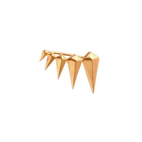 Fang Earring - 18 K Gold on sterling silver - WINBERG Minimalistic Jewellery from Copenhagen Denmark by Lea Winberg