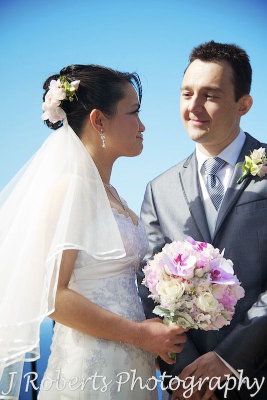 Karen's lilac and ivory themed wedding