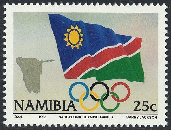 Flag And Emblem Stamp Post Stamp Namibia