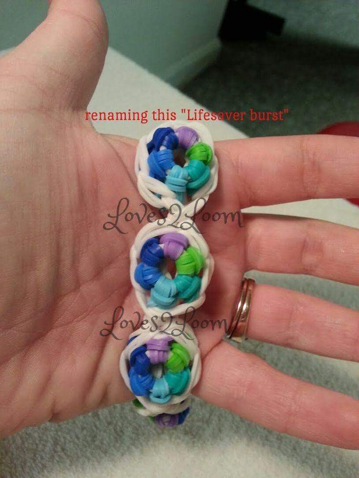 "My new ""Lifesaver Burst"" Rainbow Loom Bracelet/How To Tutorial"