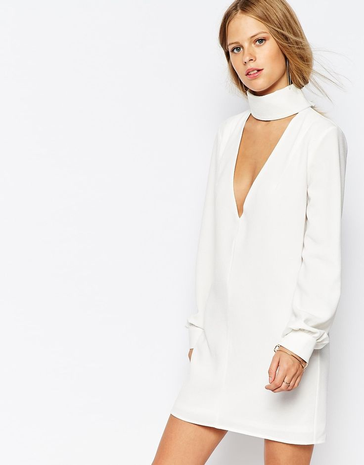 The Laden Showroom X Re:Dream Plunge Neck Tunic Dress with Collar