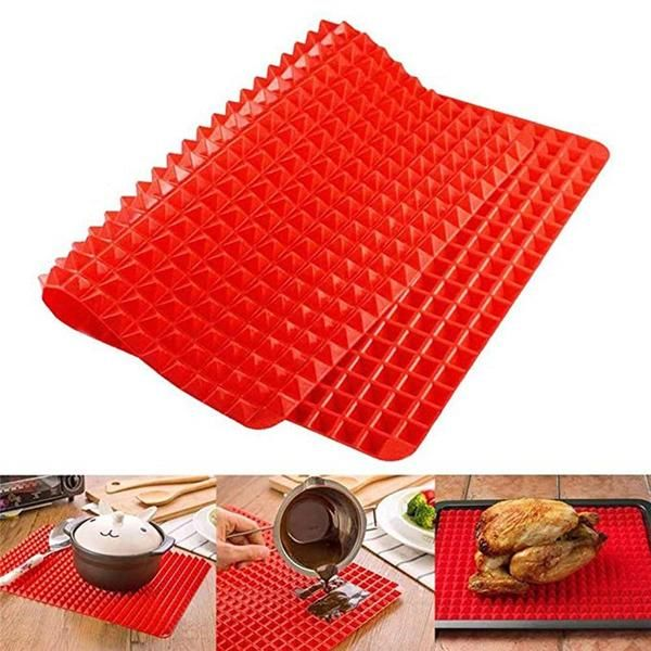 The Silicone Baking Mat Pyramid Can Be Used As A Trivet Toaster Pot Bowls Holder Drying Rack Mini Ice Cube Cooking Mat Silicone Cooking Silicone Baking Mat