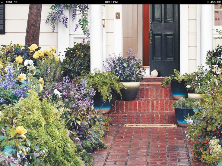 Flowers Lining Walkway To Front Door Landscaping Ideas