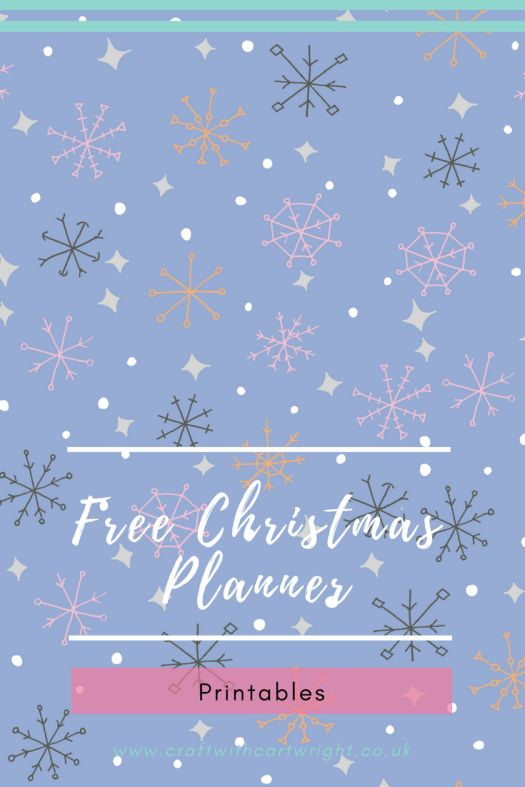 Free Christmas Planner printables - Craft with Cartwright
