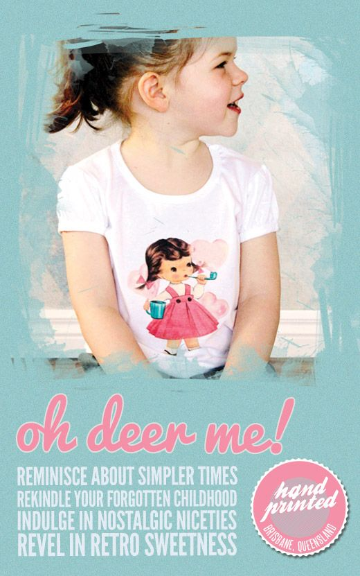 World T-shirt Tour - Oh Deer Me! Bubble Girl Tee on {KID} independent, 2012.