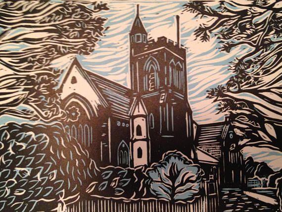Customised church print