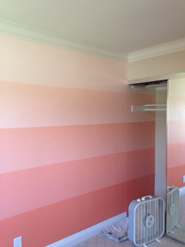 {DIY} Pink Ombre Wall | Shoes Off Please