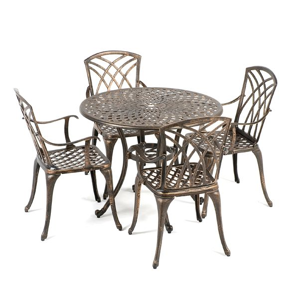 Buy Ellister Regency Cast Aluminium 4 Armchair 90cm Round Outdoor Set at  Guaranteed Cheapest Prices with. 25  Best Ideas about Cast Aluminium Garden Furniture on Pinterest