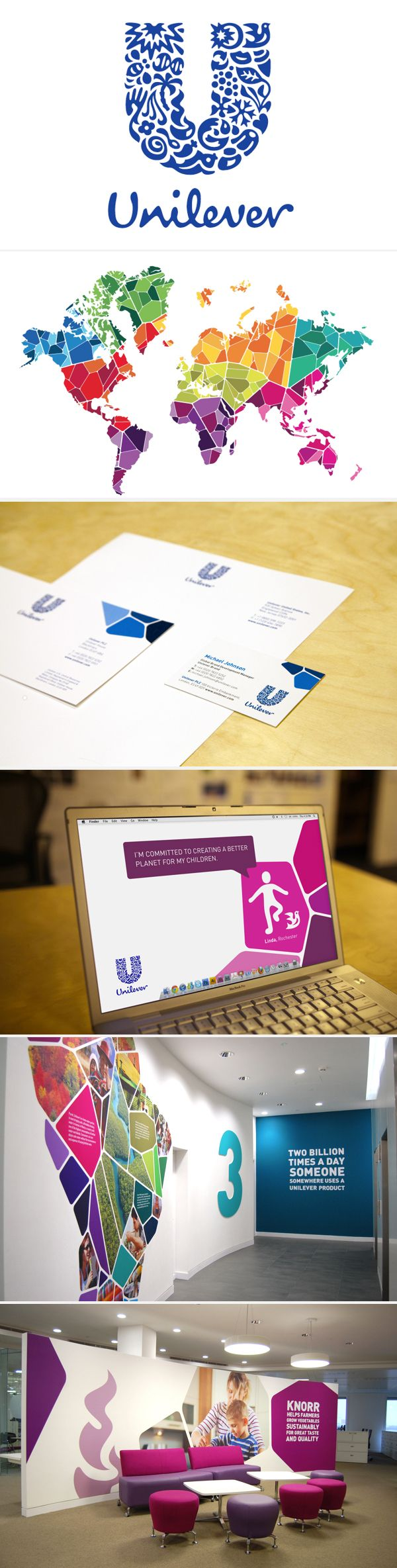 I love how this look and feel translates from paper into a physical space - great inspiration for a conference or event.