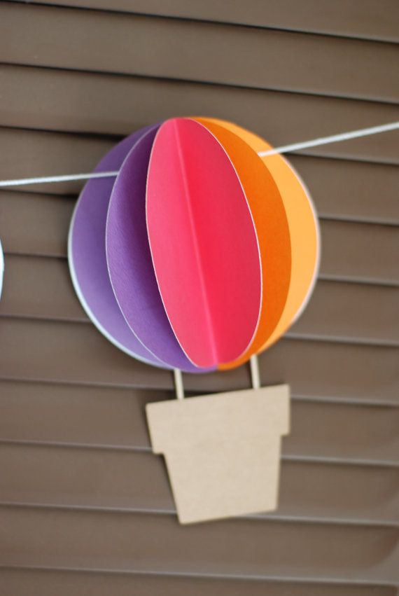 3D bandera de globo de aire caliente Up y lejos por postscripts