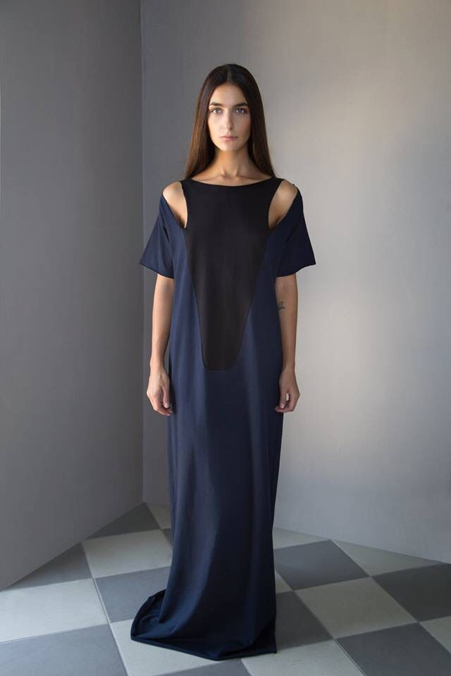 """Saint sulpice"" maxi dress fw15 ""paris metro line4"""
