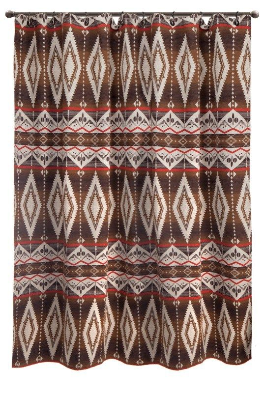 Our Southwestern Shower Curtains Come In Many Colors U0026 Coordinate With Many  Bedding Ensembles. Diamond Trail Shower Curtain In Earth Tones.