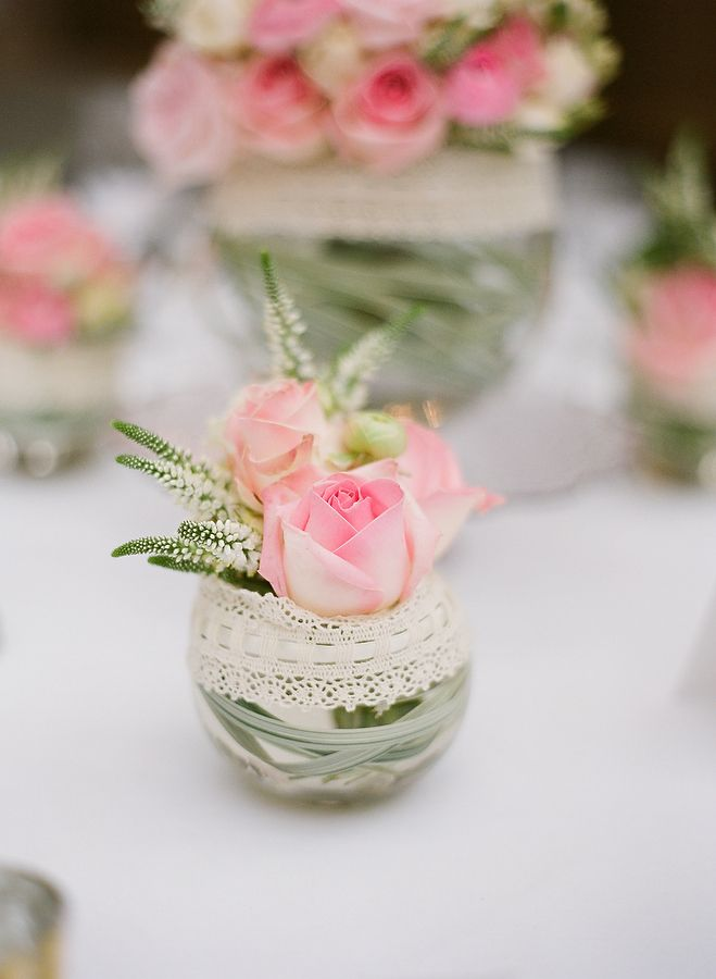 Cute wedding table center pieces
