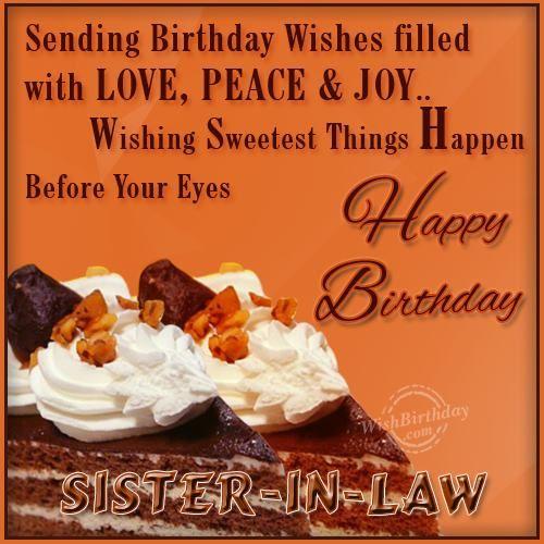 Wishing Happy Birthday To Dearest Sister-in-law