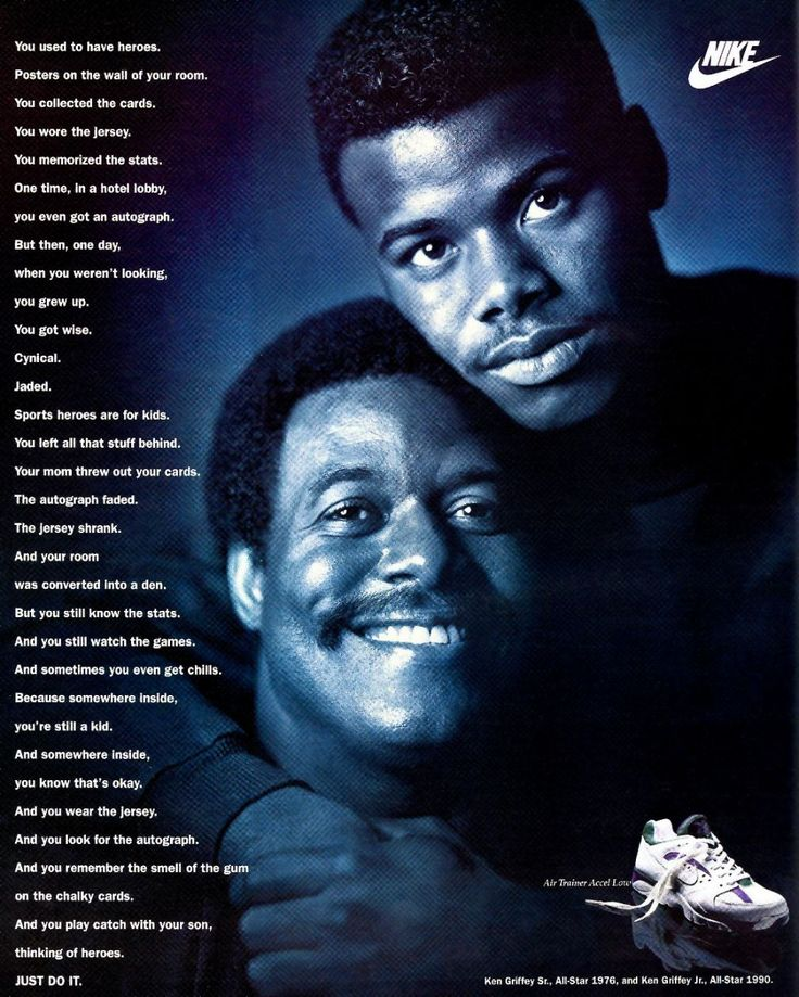 Ken Griffey Sr. and Jr. Nike ad from 1992 :)