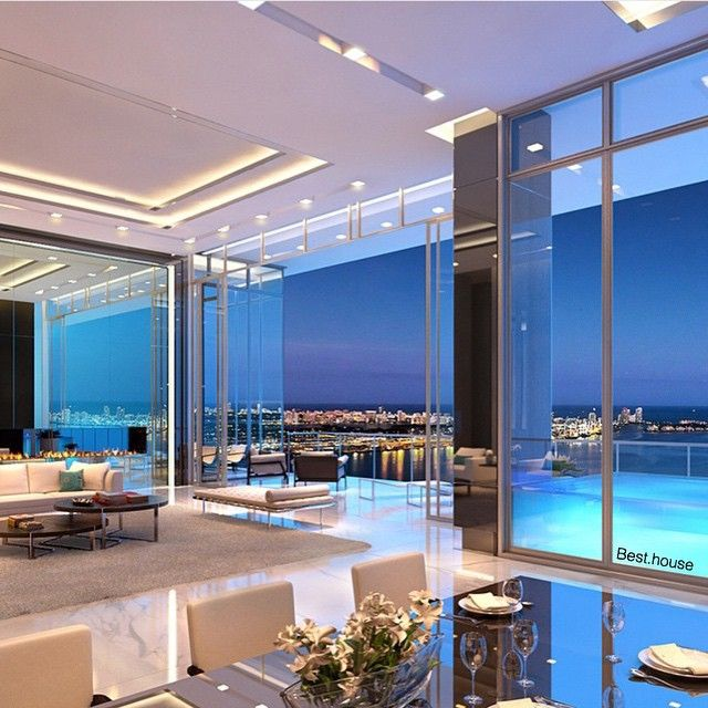 Instagram media by best.house - Penthouse in Miami Category penthouses ▃▃▃▃▃▃▃▃▃▃▃▃▃▃▃ #house #interior #interiordesign #architecture #archilovers #luxury #besthouse #property #miami #penthouse #view #beautiful #modern