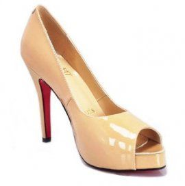 Christian Louboutin Pices Pumps Very Prive Peep Toe Apricot