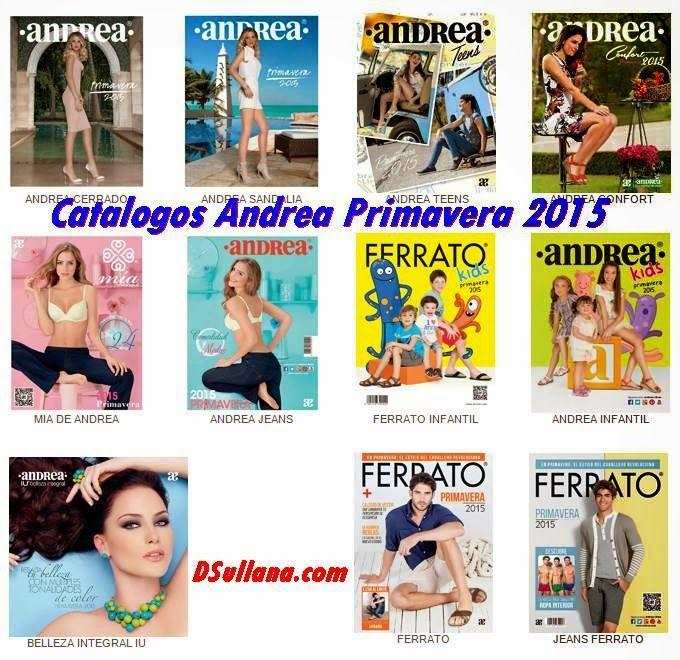 Catalogos Andrea Primavera 2015: Ropa y Zapatos