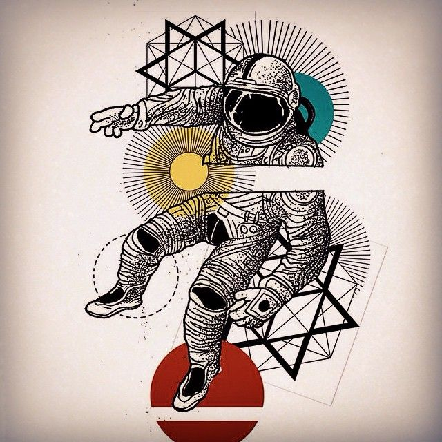 Tattoo Finka astronot