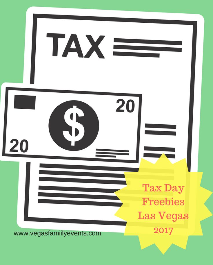 Tax Day is April 18, 2017. Get all the Las Vegas Tax Day Deals for you and your family here with a complete list of tax relief discounts and freebies.