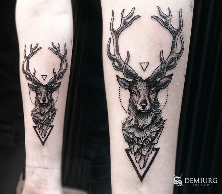 geometric deer tattoo - Buscar con Google