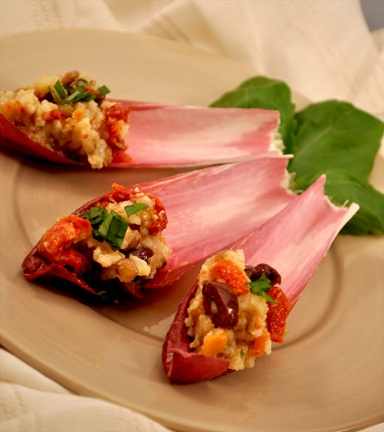 How do you make stuffed endive appetizers?