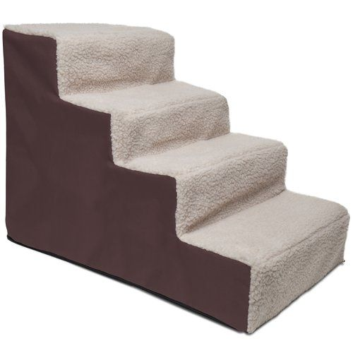 Paws Pals Dog And Cat Pet Stairs 4 Steps Up To 200 Lb Capacity Walmart Com Pet Stairs Dog Stairs Pet Steps