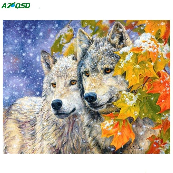 Cheap painting wolf, Buy Quality diamond painting wolf directly from China diy diamond painting wolves Suppliers: New DIY Diamond painting wolf of  needlework 100% full square resin cross stitch embroidery kits mosaic painting wolf a1218
