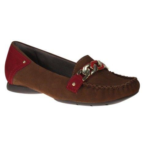Sapato Usaflex C3267 - Charuto/Cravina (Velour) - Calçados Online Sandálias, Sapatos e Botas Femininas | Katy.com.br
