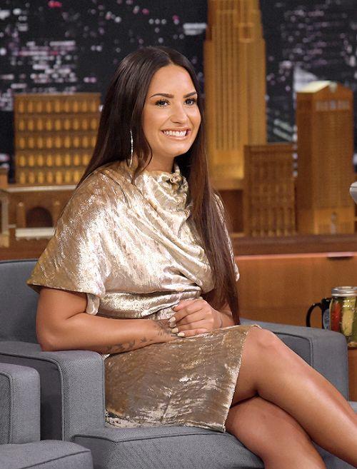 Demi Lovato on the Jimmy Fallon Show