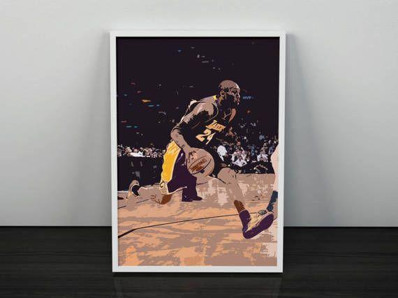 Kobe Bryant Digital Poster NBA by SillaArts