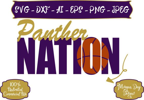 Panther Nation SVG  Basketball SVG  Baseball SVG  Football