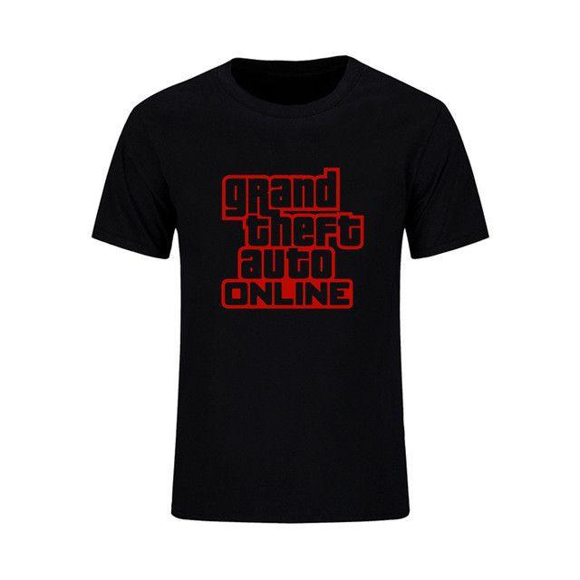 Grand Theft Auto 5 Punk T Shirt Men Street GTA Printed T-Shirts Casual Cotton Summer