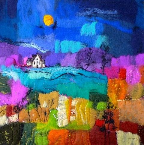 Moy Mackay patchwork felt painting.