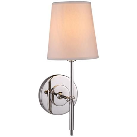 Baldwin 14 1 4 High Polished Nickel 1 Light Wall Sconce Arch Int Bathroom Pinterest