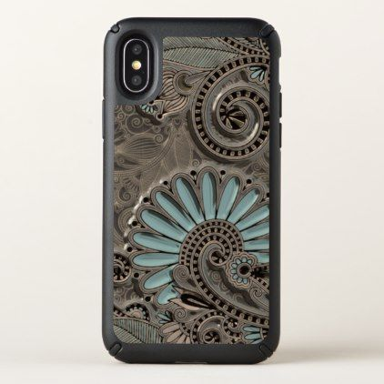 Classy Chic Pretty Damask Paisley Floral Pattern Speck iPhone X Case - girly gifts girls gift ideas unique special