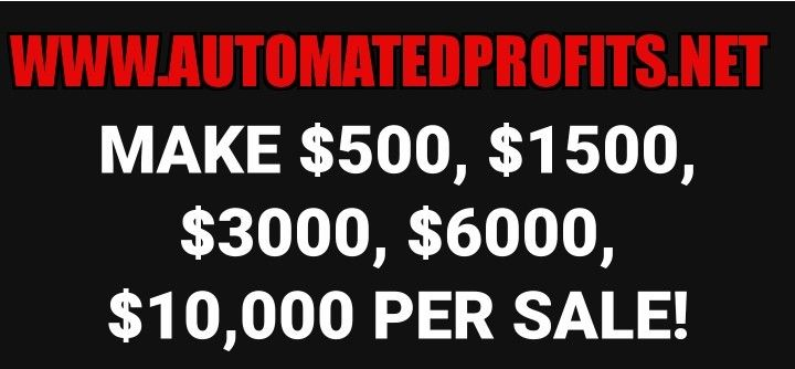 This is NOT MLM, Direct Sales, Binary Matrix, E-Com, Cash Gifting, Milk and Cookie party, Get-Rich-Quick scheme...This is a REAL Business, with Real Results.   4th Quarter is here! Let's HELP YOU END IT ON A POSITIVE NOTE! YOU DESERVE IT!  Go to www.AutomatedProfits.net  See you on the inside.
