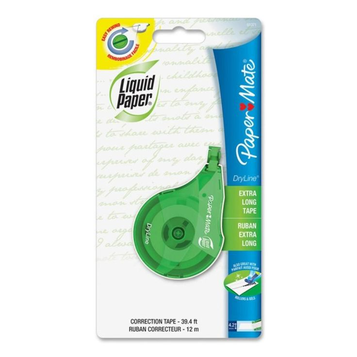 Paper Mate Liquid Paper DryLine Correction Tape 4.2mm x 12m