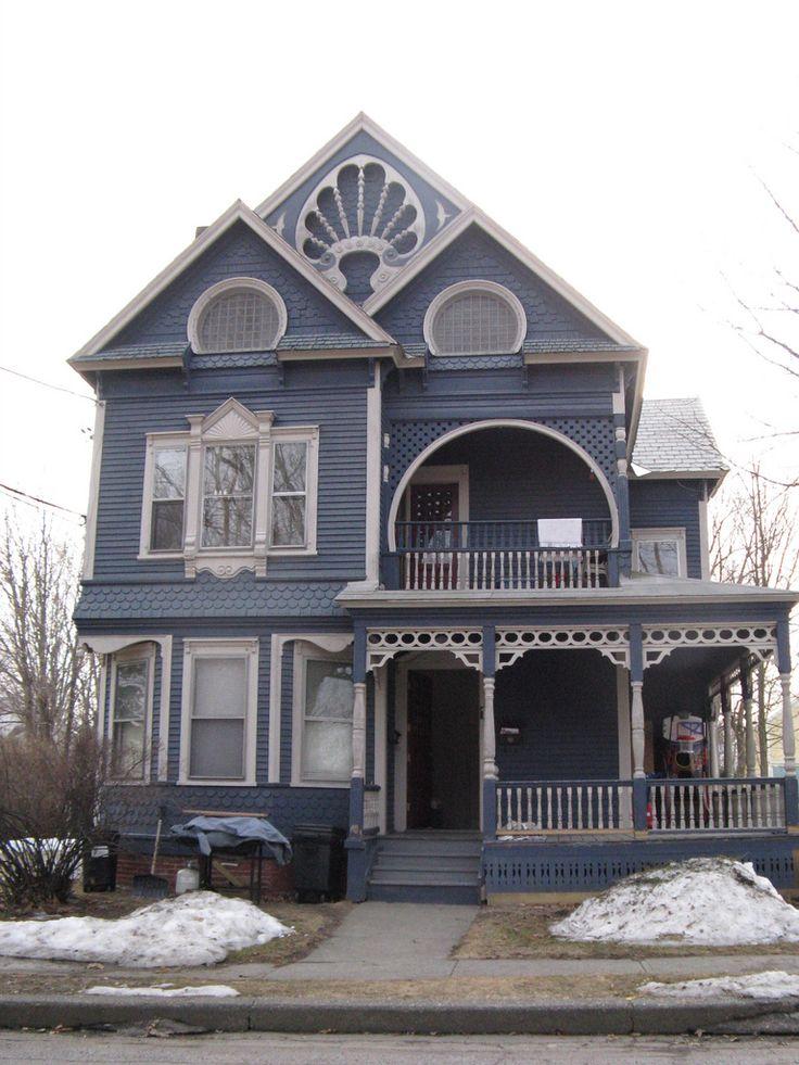 Blue victorian w beautiful trim in brattleboro vt home for Victorian house trim