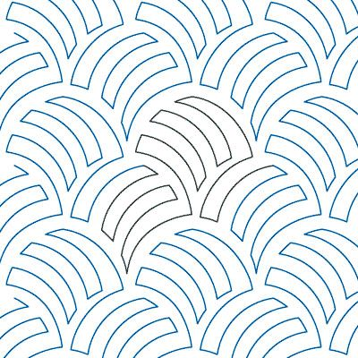 """Woven Wind - Paper - 12"""" - Quilts Complete - Continuous Line Quilting Patterns"""