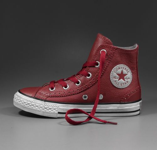 CONVERSE All Star Chucks Hi Brogue Leather chilipepper red 38 - 641058C