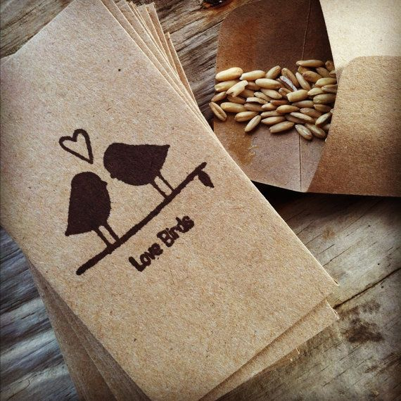 75 kraft brown wedding rice/seed envelopes/bags by jtjujubees, $30.00