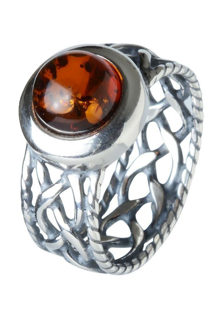 Sterling Silver And Baltic Honey Amber Celtic Ring Men S Jewelry Rings Silver Celtic Rings Sterling Silver Rings
